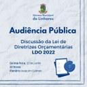 Audiência pública vai discutir a Lei de Diretrizes Orçamentárias de 2022