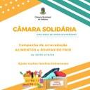 """Campanha """"Câmara Solidária"""" começa nesta sexta-feira (28)"""