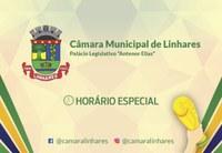 Horário especial na Câmara de Linhares nesta segunda (02)