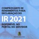 IR 2021: disponível comprovante de rendimentos no portal do servidor