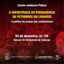 Permanência da Petrobrás e preço dos combustíveis serão discutidos em audiência pública