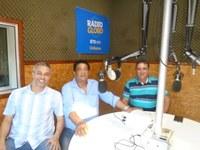 Vereadores dão entrevista em programa esportivo da Rádio Globo
